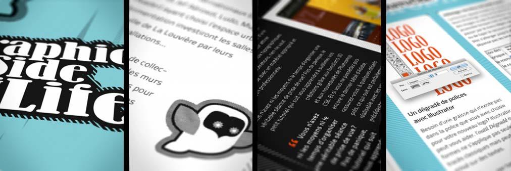 Quelques pages du numéro 1 de Graphic side of Life