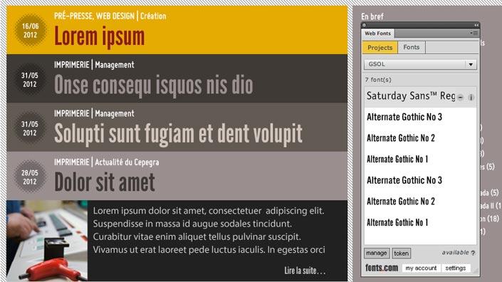 Encore en beta, le plugin de Fonts.com n'est pas prêt à être utilisé en production…