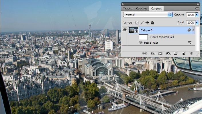 Une vue de Londres dont la netteté pourrait être meilleure.