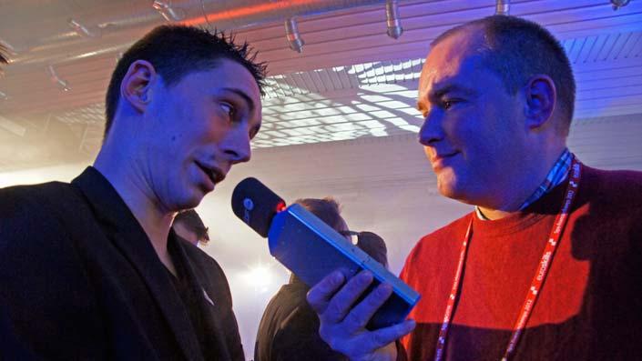Olivier en interview pour la RTBF. La rançon de la gloire…