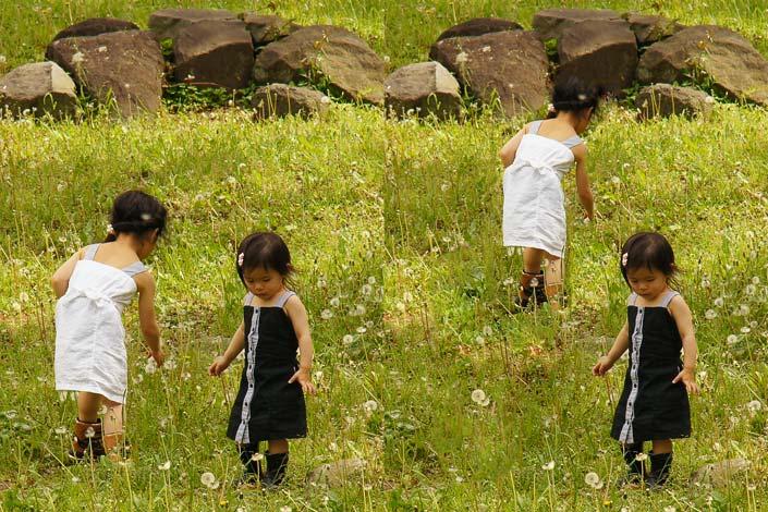 Quelques secondes suffisent pour déplacer cette petite fille et, dans le même temps, la redimensionner...