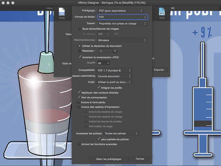 Les réglages propres à chaque format sont accessibles via un simple clic sur le bouton Plus qui se trouve au bas de la boîte de dialogue de sauvegarde.