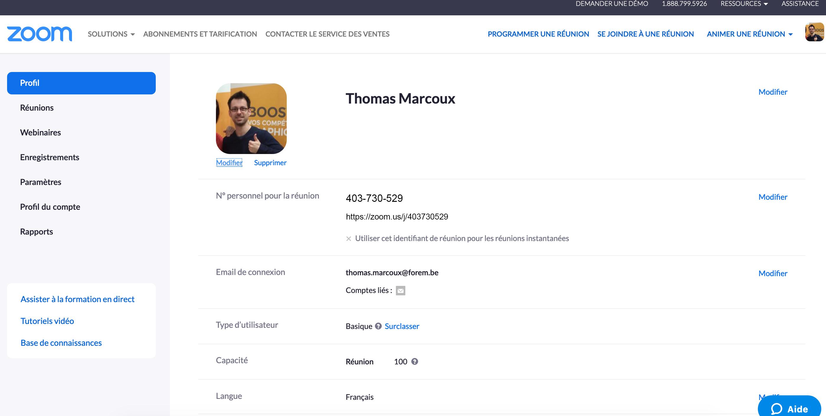 Première présentation des travaux des stagiaires en chargé de com' via Zoom avec Thomas